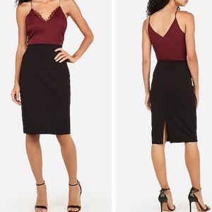 Express Solid Black Pencil Skirt Sz 4 ::YY16